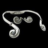 Nifty Margot de Taxco Swirl Clamper Set #5580 c. 1960