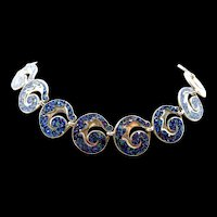 Sublime Margot de Taxco Leaf Scroll Necklace #5384 c. 1955