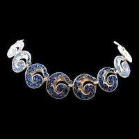 "Sublime Margot de Taxco ""Leaf Scroll"" Necklace #5384 c. 1955"
