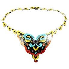 Magnificent Margot de Taxco Arabesque Necklace #5531 c. 1955
