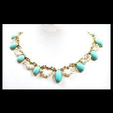 Beautiful Belle Epoque Persian Turquoise Necklace c. 1880