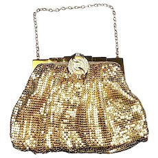Delicious Vintage Whiting & Davis Mesh and Crystal Purse c. 1940's-50