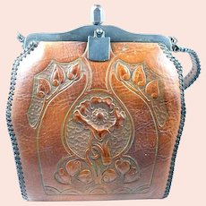 Arts & Crafts Hand Tooled Leather Purse c. 1915