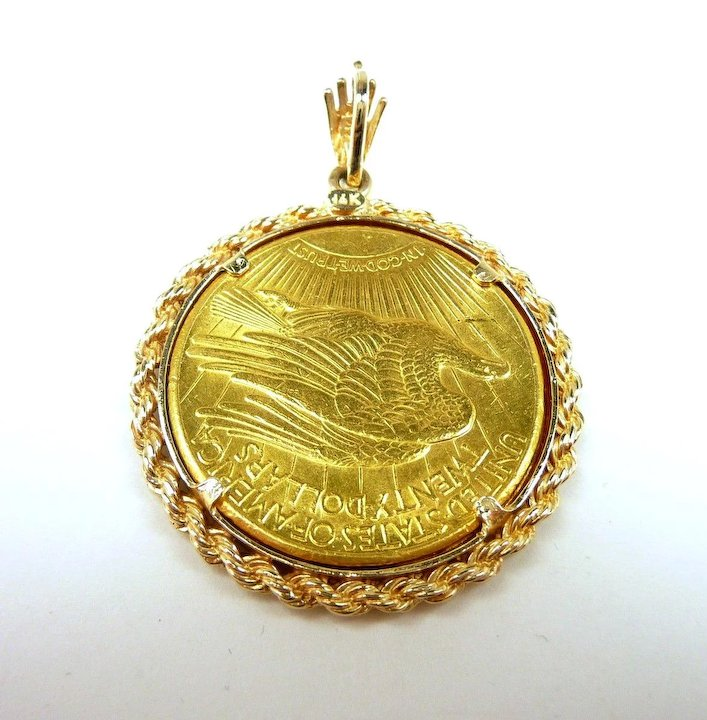 gold coin muru goldplated silver pendant