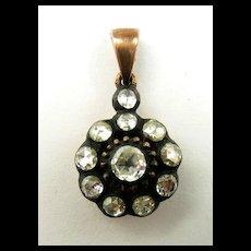 Gorgeous Georgian Button Diamond Pendant c. 1800
