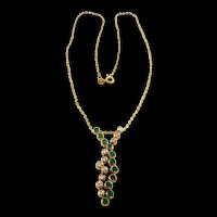 "Scintillating ""Bubbles"" Emerald and Diamond Pendant Necklace"