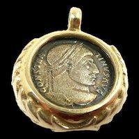 Classic Handmade Ancient Coin Pendant c. 300AD