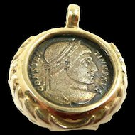 Classic Handmade Ancient Coin Pendant c. 200AD