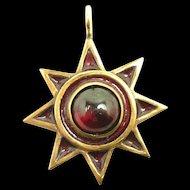Notable Handmade Sunburst Pendant