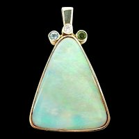 Outstanding Opal Artisan Handmade Pendant in Gold with Adornments