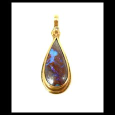 Hand Crafted Boulder Opal Pendant