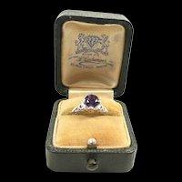 Refined Edwardian Platinum, Amethyst Filigree Ring c. 1910