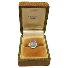 Mysterious Moonstone Arts & Crafts Ring c. 1910