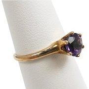 Diminutive and Elegant Amethyst Victorian Ring c. 1890