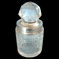 Classic John Grinsell and Sons Edwardian Sterling and Crystal Scent Bottle c 1910
