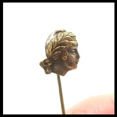 Lady Liberte Head Stickpin c. 1860