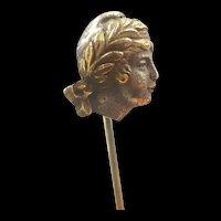 Lady Liberte Head Stickpin c. 1860