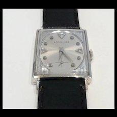 Dramatic Longines Rectangular Gold Watch c. 1966