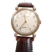 Beguiling Vintage Bulova Wrist Watch c. 1950's