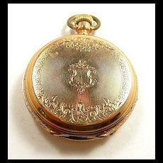 Special Engraved Tissot & Company Swiss 14kt. Yellow Gold Pocket Hunter Case c. 1880