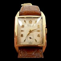 Interesting Vintage Baylor Gold Tank Watch c. 1950's