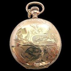 Home Town Elgin Hunter Case 0s Pocket Watch c. 1909