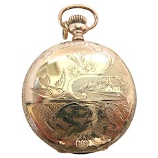 Home Town Elgin Hunter Case 0s Pocket Watch c. 1909
