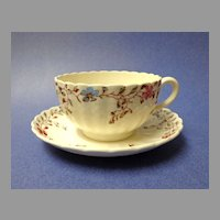 Spode Copeland Cup & Saucer. Wicker Dale.  Florals. Perfect condition.