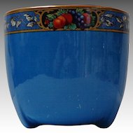Royal Staffordshire Pottery, Wilkinson Ltd.  Jardinière / Planter.  Royal Blue Decorated.