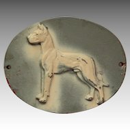 Large Cast Metal Dog Plaque.  House / Kennel Sign.