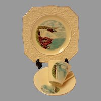 Royal Winton Niagara Falls Pattern.  Cup, Saucer, Plate.  Rare.