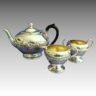 Silver Tea Service.  Smaller.  Apartment / Condo Size.  3 Pieces. Beautiful.  Perfect Condition.