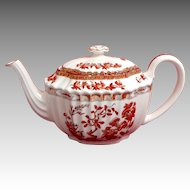 Spode.  Indian Tree Pattern.  Teapot.  Curved Spout.  Perfect Condition.