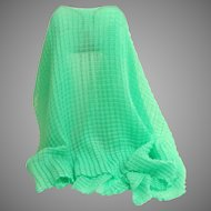 Mint Permanently  Pleated Large Scarf.  Super Different.   MWT As New Condition.