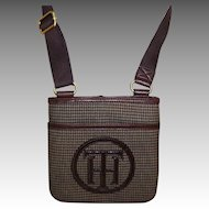 Tommy Hilfiger Crossover Purse.  Slim Line.  Brown Tweed.  As New Condition.
