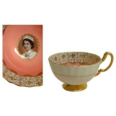 Aynsley China.  Young QEII Commemorative Coronation Cup.  Beautiful.  Quality.  Perfect Condition. - Red Tag Sale Item