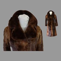 Genuine Beaver Fur Coat.  Classic Style.  Small Size.  Super Gorgeous.  Mint Condition.