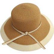 Wide Brim Summer / Sun Hat.  Elegant.  Tan and Cream.  As New Condition.