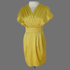 PRADA Designer Dress.  Pale Gold.  Classic Elegance.  Size 6.  Mint Condition.