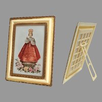 Antique Italian Celluloid / Early Plastic Picture Frame.  Unique.  Perfect Condition.