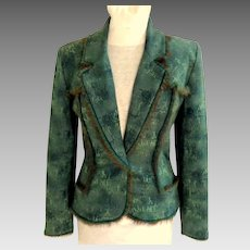 JIKI Pant Suit.  Made in France. Superb Quality.  Never Worn Condition.