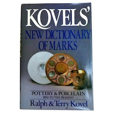 KOVELS' New Dictionary of Marks.  Pottery & Porcelain. 1850 to Present. Excellent Reference.  As New Condition.