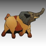 "Elephant Brooch. 4 ½"" Wide."