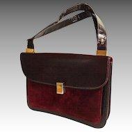 SALVATORE FERRAGAMO Genuine Leather.  Lizard Embossed and Suede. Wine Color.  Mint Condition.