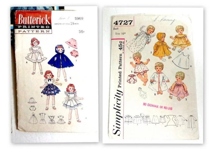 Doll Patterns. Heirloom Patterns Book. German Patterns Book. 2 ...