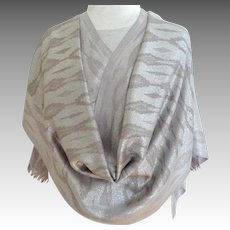 PASHMINA Silver and Grey Baize.  Super Gorgeous.  Super Large.  As New Condition.