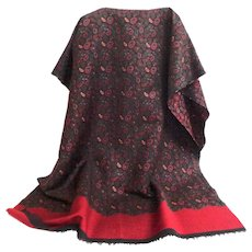 Scarf / Pashmina.  Uni-Sex. Totally Elegant.  Paisley and Wine Color.  As New Condition.