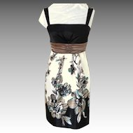 LE CHATEAU Dressy Summer Dress.  Black & White.  As New Condition.