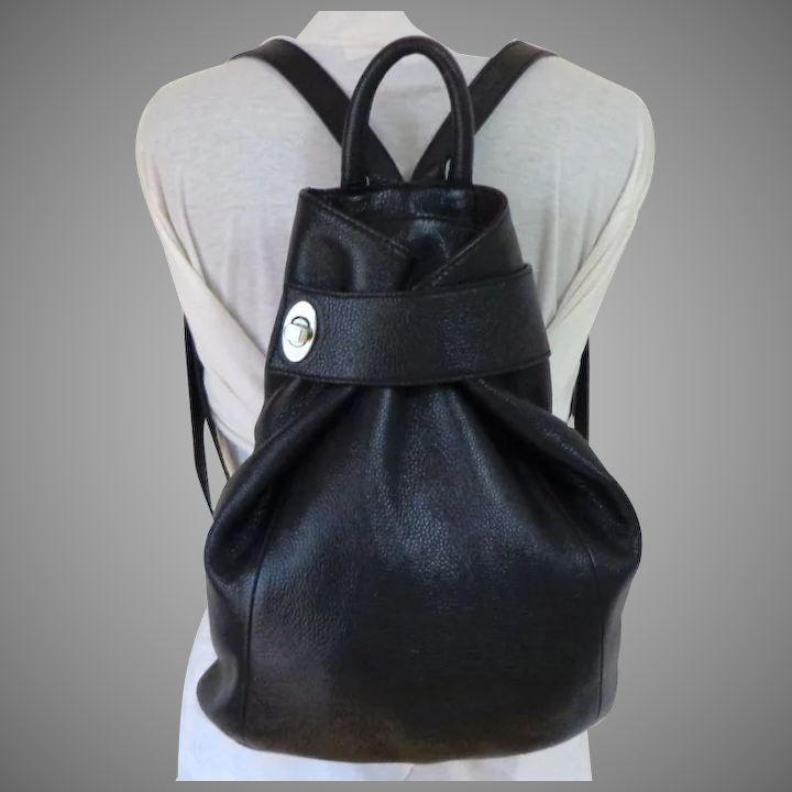 0a55740ecde2 DANIER Genuine Leather Purse / Backpack. Black. Top Quality. As New  Condition.