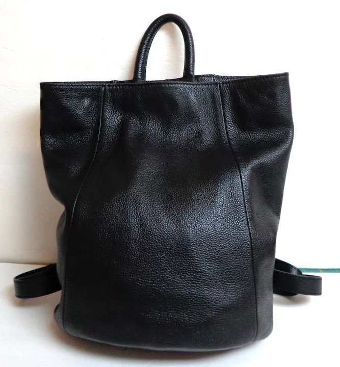 Danier Genuine Leather Purse Backpack Black Top Quality As New 76d72ce63e896